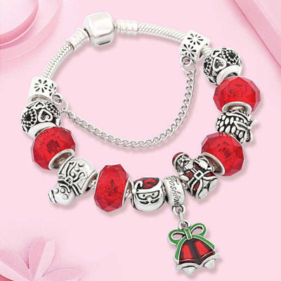 Picture of Classic Red Christmas Bell Santa Charm Bracelets