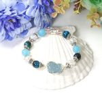 Picture of Mulany MB8065 Aquamarine With Pixiu Charm Healing Bracelet