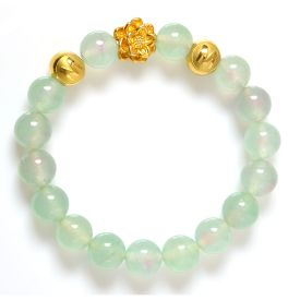 Picture of Mulany MB8014 Agate Stone Lotus Charm Healing Bracelet