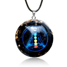 Picture of Mulany MN504 Obsidian EMF Protection Orgone Pendant