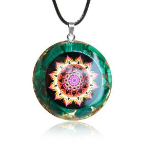 Picture of Mulany MN509 Malachite Flower Of Life Orgone Pendant