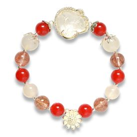 Picture of Mulany MB8002 Red Rutilated Quartz Fox Charm Healing Bracelet