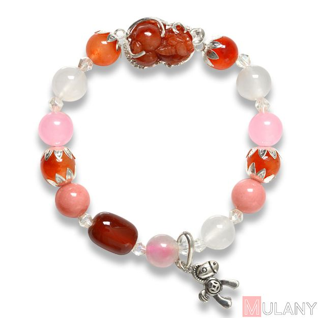 Picture of Mulany MB8012 Moonstone With Pixiu Charm Healing Bracelet