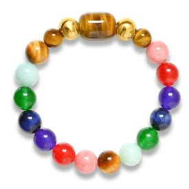Picture of Mulany MB8023 Natural Stone 7 Chakras Healing Bracelets