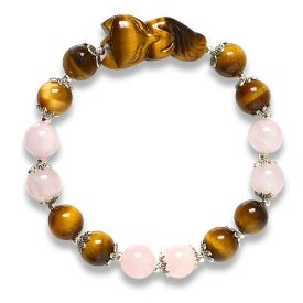 Picture of Mulany MB8050 Tiger Eye Stone With Fox Charm Healing Bracelet