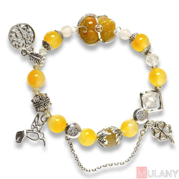 Picture of Mulany MB8052 Citrine With Pixiu Charm Healing Bracelet