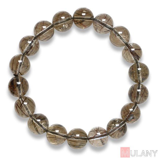 Picture of Mulany MB7005 Black Rutilated Quartz Healing Bracelet