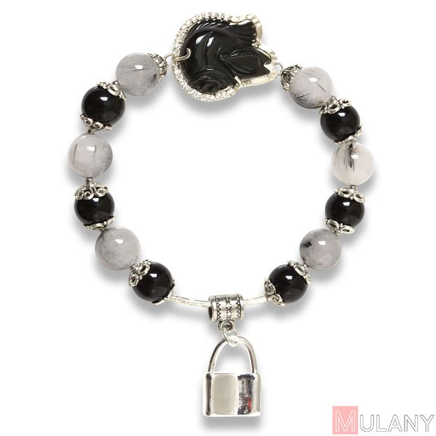 Picture of Mulany MB8010 Ghost Stone With Fox Charm Healing Bracelet