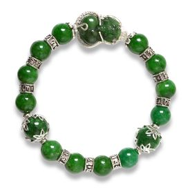 Picture of Mulany MB8013 Green Jade  With Pixiu Charm Healing Bracelet