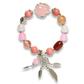 Picture of Mulany MB8022 Natural Stones With Fox Charm Healing Bracelet
