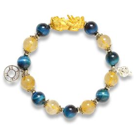 Picture of Mulany MB8024 Rutilated Quartz With Pixiu Charm Healing Bracelet