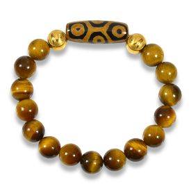 Picture of Mulany MB8028 Tiger Eye Stone With Dzi Charm Healing Bracelet