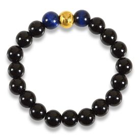 Picture of Mulany MB8034 Obsidian Stone Healing Bracelet