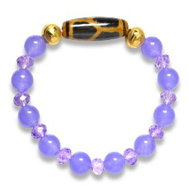 Picture of Mulany MB8036 Amethyst Stone  With Dzi Charm Healing Bracelet