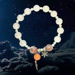 Picture of Mulany MB8037 Moonstone With Silver Charm Healing Bracelet