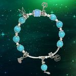 Picture of Mulany MB8042 Jade Stone With Silver Charm Healing Bracelet