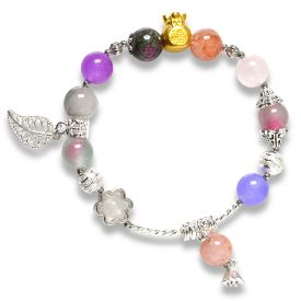 Picture of Mulany MB8055 Multicolor Stone With Silver Charm Healing Bracelet