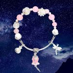 Picture of Mulany MB8070 Rose Quartz With Silver Money Bag Healing Bracelet