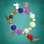 Picture of Mulany MBK8002 Natural Stone With Silver Charm Kids' Healing Bracelet
