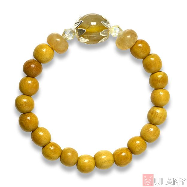 Picture of Mulany MBK8003 Mulberry & Golden Rutilated Quartz Healing Bracelet