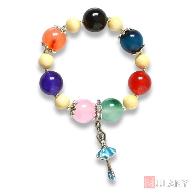 Picture of Mulany MBK8006 Natural Stone Kids Healing Bracelet