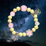 Picture of Mulany MBK8007 Mulberry & Rose Quartz Kids Healing Bracelet